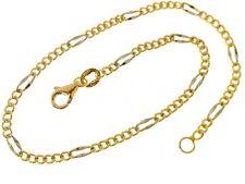 Bracciale Braccialetto Uomo Donna Oro Giallo Bianco 18 Kt Carati Ct 750 1,45 Gr