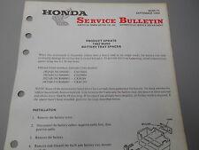 Honda Factory Service Bulletin Batery Spacer1982 NU50 MTB 4739