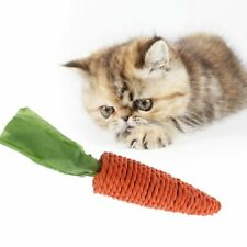 Funny Pet Cat Scratch Toy Straw Carrot For Hamster Guinea Rabbit Rat Chew Toy