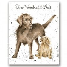Wrendale Designs Card NEW Dog & Puppy To a  Wonderful Dad fathers day