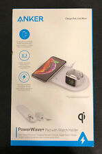 Anker Wireless Charger, 2 in 1 PowerWave+ Pad with Apple Watch Holder NewOpenBox