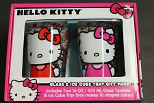 Hello Kitty Glasses Tumblers Cups and Ice Cube Tray Gift Pack