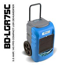 BlueDri® BD-LGR75C 75PPD AHAM 145PPD Compact LGR Commercial Dehumidifier Blue