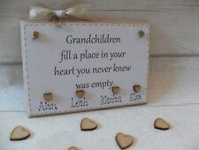 Grandchildren Grandchild gift plaque sign for grandparents, nanny grandad nan