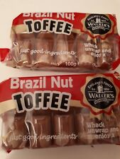 2 x 100gm bars walkers Brazil nut toffee  / retro Sweets