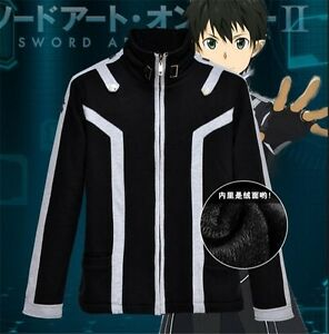 Anime Sword Art Online Kirito Unisex Jacket Sweatshirt Hoodie Cosplay Coat