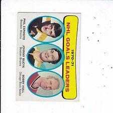 1971-1972 TOPPS #1 GOAL LEADERS NRMT-MT