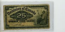 New ListingCanada ( Dominion ), 25 Cents vintage Bank Note. 1900 # 112