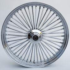 """Chrome 48 King Spoke 23"""" x 3.5"""" Front Single Disc Wheel for Harley Custom Models"""