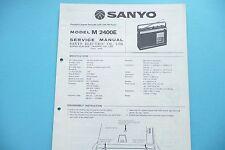 Service Manual-Istruzioni per SANYO M 2400 e, ORIGINALE