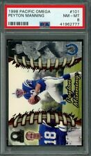 1998 pacific omega #101 PEYTON MANNING indianapolis colts rookie card PSA 8