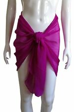 MINI SARONG ~ Short SHEER Chiffon Skirt Wrap for BEACH Holiday Swimwear Cover Up