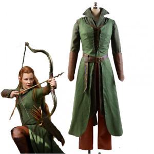 Der Hobbit 2/3 Elf Tauriel Anzug Herr der Ringe Cosplay Kostüm Uniform