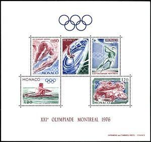 Monaco-1976. Summer Olympics in Montreal. 5,00€