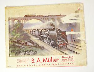 Alter Märklin D8 Katalog 1931 Müller Dresden !