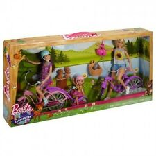 BARBIE Sorelle CAMPEGGIO FUN BIKE SET Incl BARBIE / SKIPPER / Chelsea BAMBOLE + B...