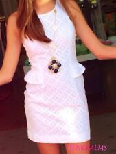 238.00 NWT LILLY PULITZER 10 ABBY DRESS RESORT WHITE XO LACE