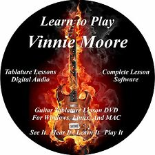 Vinnie Moore Guitar TABS Lesson CD 44 Songs + Backing Tracks + BONUS!
