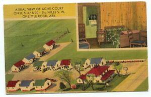 Little Rock AR Acme Court Linen Postcard ~ Arkansas