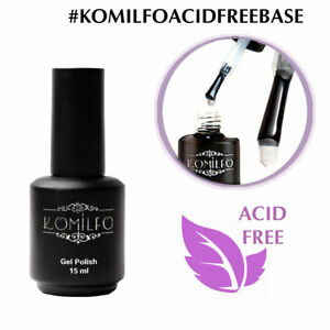 KOMILFO BASE / TOP Rubber Matte No Wipe Coat Cover Glitter Gel Nail Polish SALE