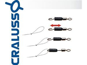 CRALUSSO MATCH ROLLING QUICK SNAP SWIVELS FISHING TERMINAL TACKLE SIZE 8 - 14