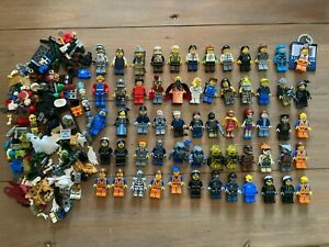 Huge Lot of 60+ LEGO Minifigures w/ Accessories - Lego City, Movie...Free Ship!