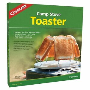 """Coghlan's Camp Stove Toaster Durable Steel w/ Coated Wires 9"""" Camp Fire Toast"""