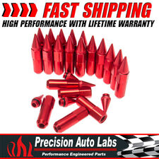 Set of 20  M12X1.5 Cap Spiked Extended Tuner 60mm Aluminum Wheels Rims Lug Nuts