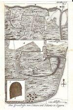 Antiguo Mapa, die Grundrisse von citium und Salamina en cypren