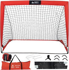 Soccer Goal By Day 1 Sports Portable Soccer Goal 12'x6' Includes 5 Ground