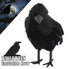 Artificial Crow Black Bird Raven Halloween Decor Prop Haunted Spooky Realistic