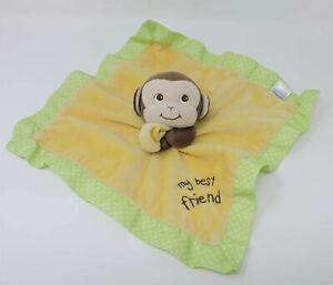 Garanimals Monkey Security Blanket My Best Friend Yellow Green Lovey Soft Toy