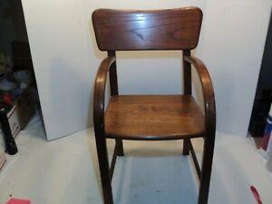 Vintage solid Oak Childs arm chair