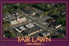 Fair Lawn, New Jersey, Aerial View F L Avenue + Plaza Road, Bergen Co - Postcard