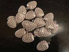 lot de 19 decors fraises argenté pour fabrication bijoux