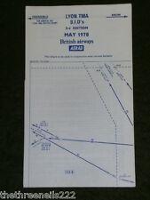AVIATION CHART - LYON TMA S.I.D's - MAY 1978 - 34x38cm