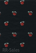 Black Red Apple Country Kitchen Wall Cover Vinyl Coated Paper Dbl Roll Wallpaper