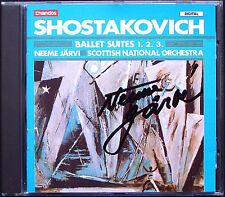 Neeme JÄRVI Signiert SHOSTAKOVICH Ballet Suite 1 2 3 JARVI CD Schostakowitsch