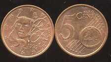FRANCE    5 cent  1999  SPL  neuve  ( sortie du rouleau )