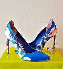 Ted Baker Hallden Blue Harmony Floral Evening Shoes/Heels Uk 8 Eu41*Dress Ls