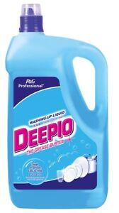 Deepio 5 Litres Professional Washing Up Liquid Hotels Restaurant Cafe Schools 5L