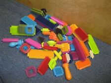 Lot of 64 Bristle Blocks Multi Colored