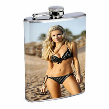 French Women D2 Flask 8oz Stainless Steel Hip Drinking Whiskey