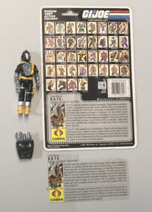 GI Joe ARAH 1986 BAT with cardback and file card complete