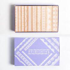 10Pcs Wooden Rubber Stamp Set Lace Frame Scrapbooking Craft Journal DIY Decor