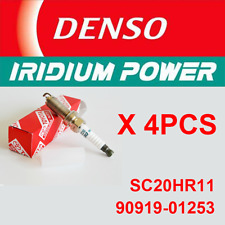 NEW Genuine 4pcs LASER IRIDIUM Spark Plugs 90919-01253 Denso SC20HR11
