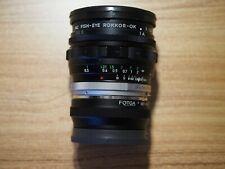 Minolta MC 16mm f2.8 Fish-Eye Rokkor Fisheye Lens w/adapter for Sony E mount