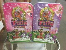 Set Of 2 Filly Princess Tins With Figurines, Stickers And More Inside Mlp