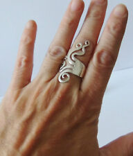 925 STERLING SILVER LONG RING size L (everyday wear)