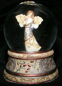 Snow Globe Sankyo Angel Musical Plays Memories Titled Home Tan Copper 2009 Mint